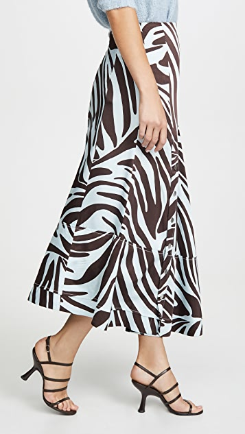 3.1 Phillip Lim 按扣设计斑马裥褶半身裙