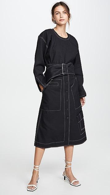 3.1 Phillip Lim 高腰中长半身裙
