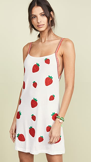 Pitusa 草莓连衣裙