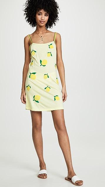 Pitusa 柠檬图案连衣裙