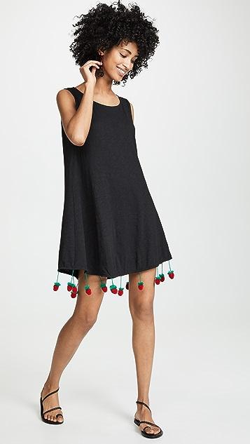 Pitusa 草莓绒球连衣裙