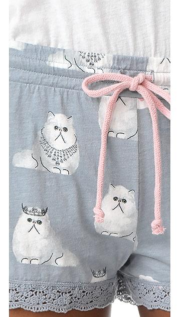 PJ Salvage 小猫短睡裤