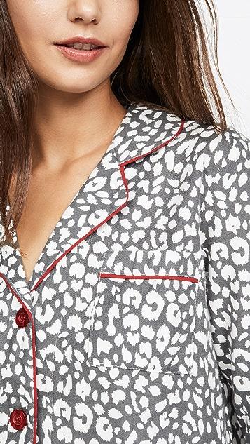 PJ Salvage 合身法兰绒睡衣套装