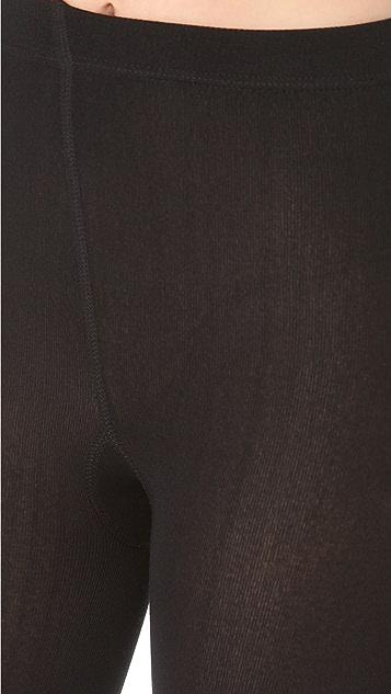 Plush 绒毛衬里紧身袜