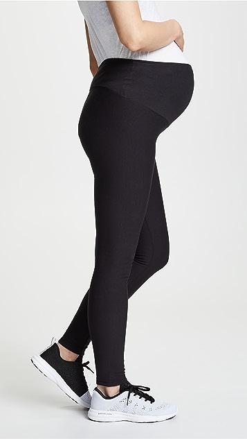 Plush 绒布衬里孕妇装贴腿裤