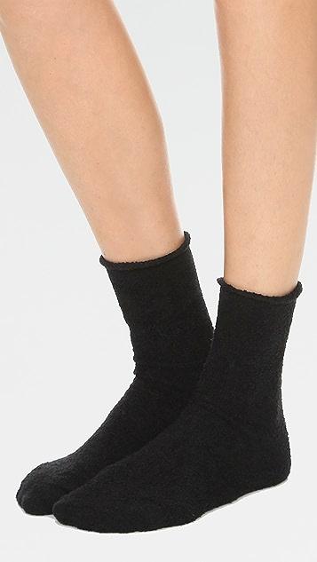 Plush 卷边绒布袜子