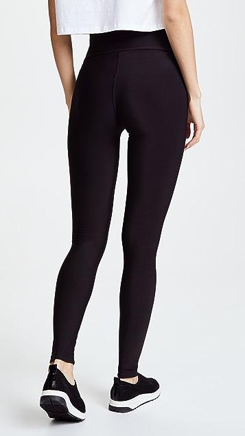 Plush 高腰哑光绒布贴腿裤