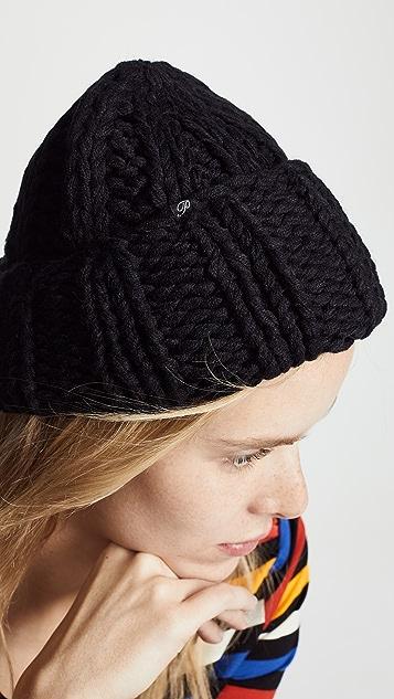 Plush 粗手工针织小圆帽