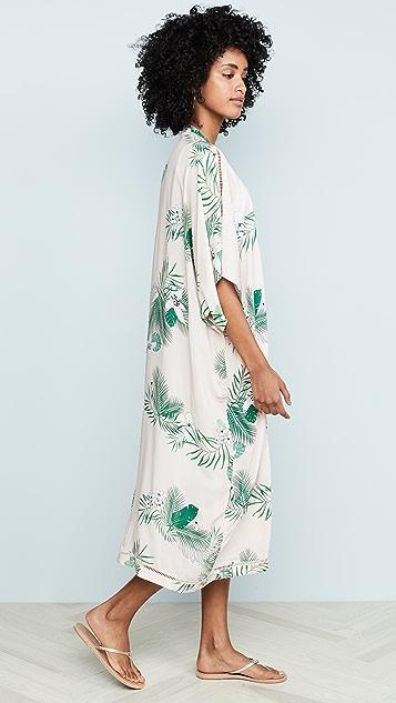 Plush 棕榈树长款和服