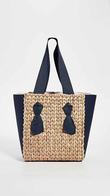 PAMELA MUNSON Petite Isla Bahia 混合材质手提袋