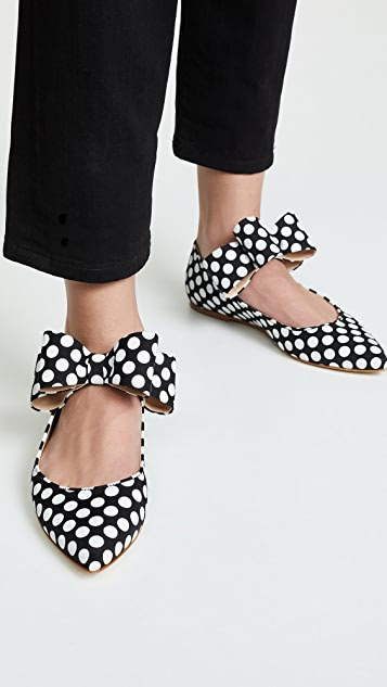 Polly Plume Bonnie 蝴蝶结玛丽珍平底鞋