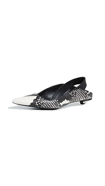 Proenza Schouler 蛇形印花露跟鞋