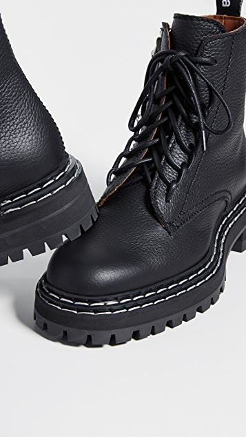 Proenza Schouler 缝线系带靴子