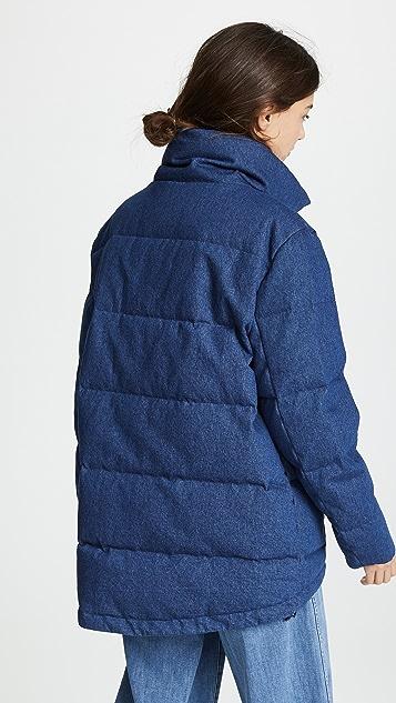 PRPS 绗缝大摆夹棉外套