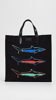 폴 스미스 Paul Smith Shark Tote,Black