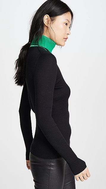 Proenza Schouler PSWL 长袖针织高领毛衣