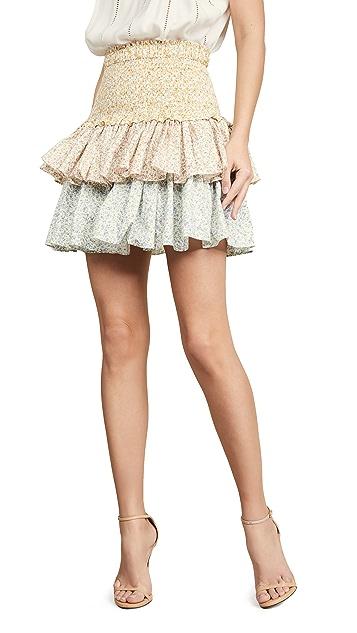 Petersyn Asia 层褶半身裙
