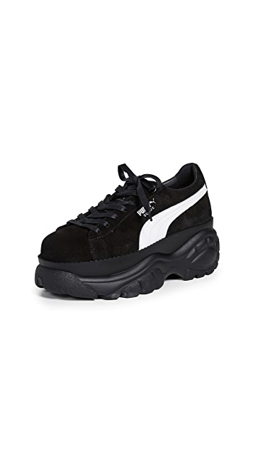 PUMA 绒面革水牛皮运动鞋