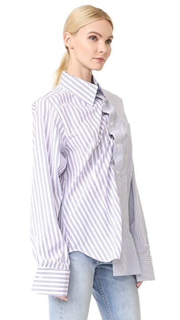 pushBUTTON 条纹衬衣