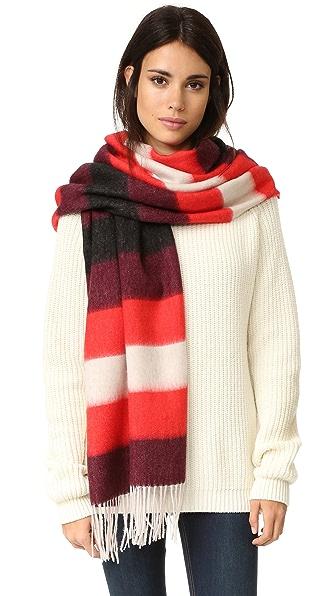 Rag & Bone 拉绒披肩式条纹围巾