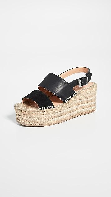 Rag & Bone Edie 编织底坡跟绑带凉鞋