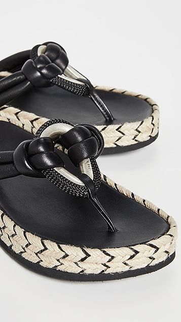 Rag & Bone Eva 夹趾编织底凉鞋