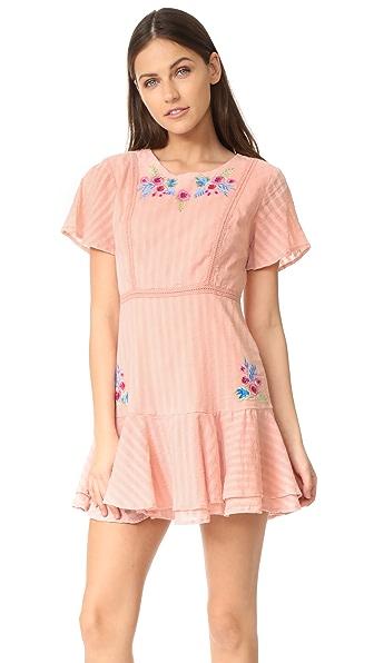 RahiCali Tropics 荷叶边连衣裙