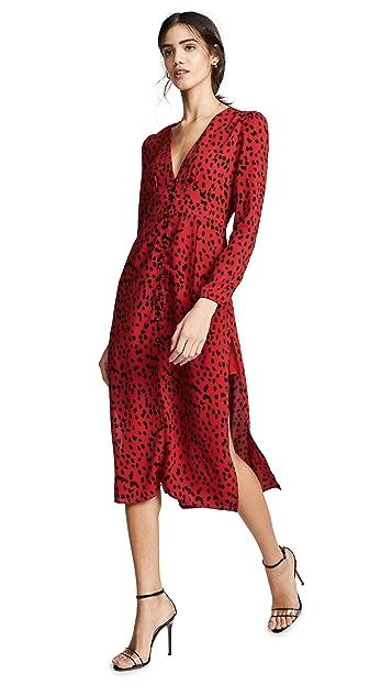 Rahi 红色豹纹连衣裙