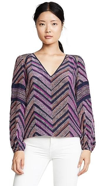 Ramy Brook 印花加州风格女式衬衫