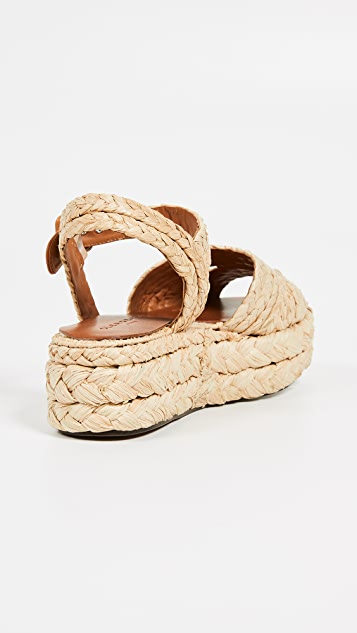 Clergerie Aude 厚底凉鞋