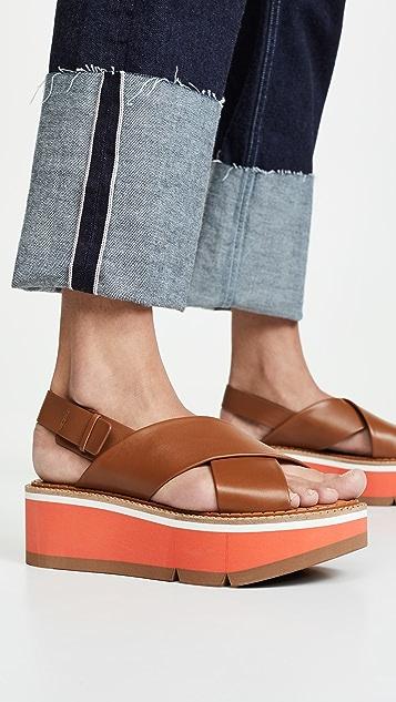 Clergerie Anae 交叉凉鞋