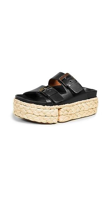 Clergerie Abby 双带凉拖鞋