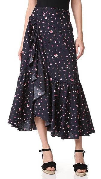 Rebecca Taylor Mia 及地裹身式半身裙