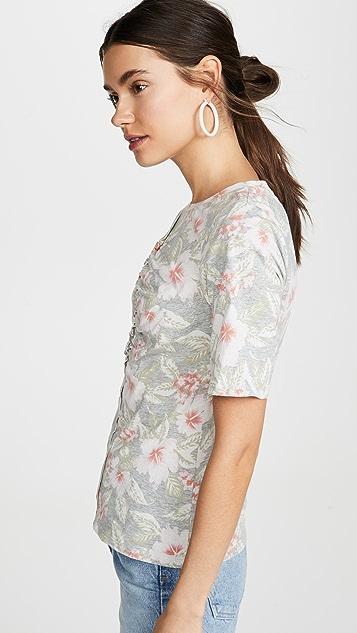 Rebecca Taylor Kamea 平纹针织短袖 T 恤