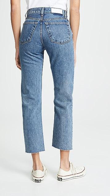 RE/DONE Rigid Stove Pipe 高腰牛仔裤
