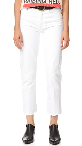 RE/DONE Rigid Stovepipe 高腰牛仔裤