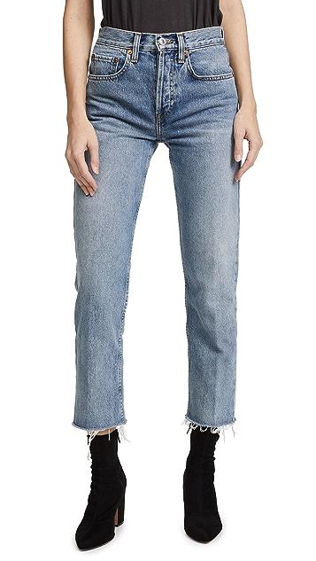RE/DONE Stovepipe 九分牛仔裤