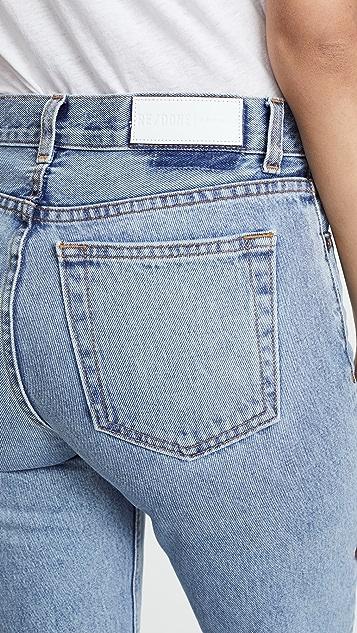 RE/DONE 学院风版型牛仔裤