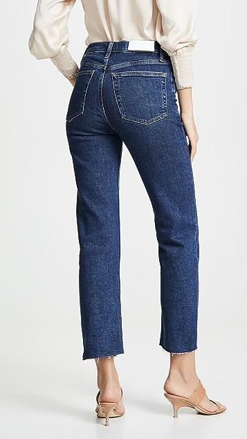 RE/DONE Stove Pipe 高腰牛仔裤