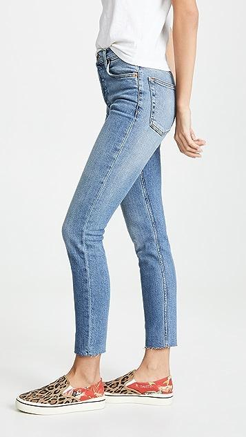 RE/DONE 高腰九分牛仔裤