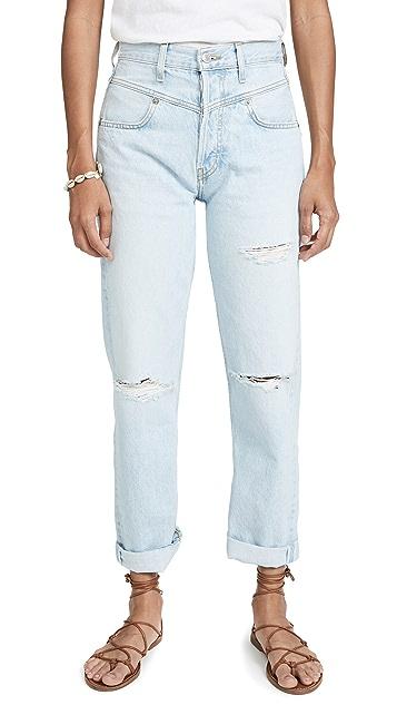 RE/DONE 90 年代复古风格双抵腰牛仔裤