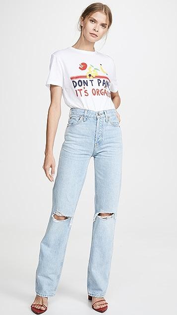 RE/DONE 高腰宽松牛仔裤
