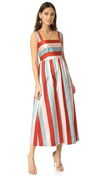 RED Valentino 条纹连衣裙