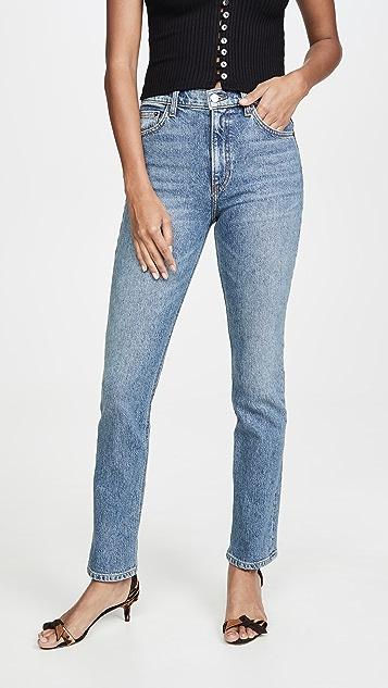 Reformation Liza 高腰直脚牛仔裤
