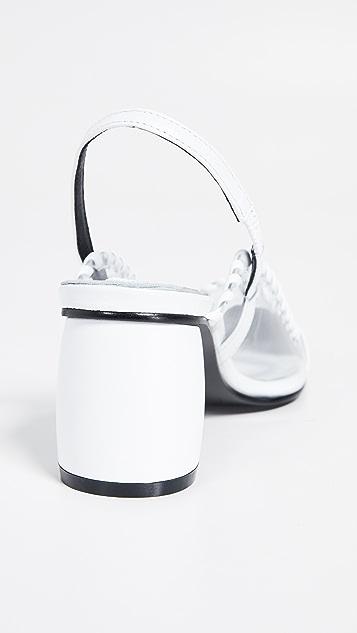 Reike Nen PVC 弧形露跟浅口鞋