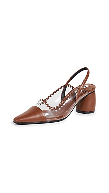 Reike Nen 中部弧形露跟浅口鞋