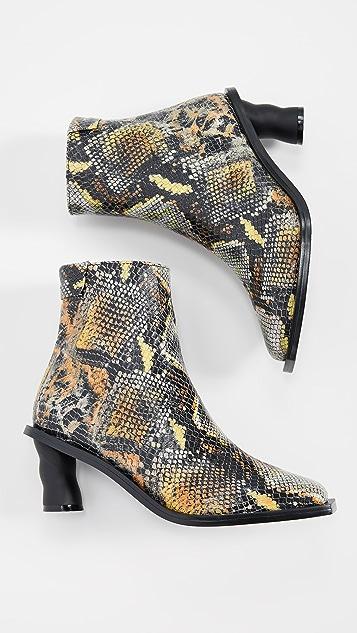 Reike Nen 波纹后跟踝靴