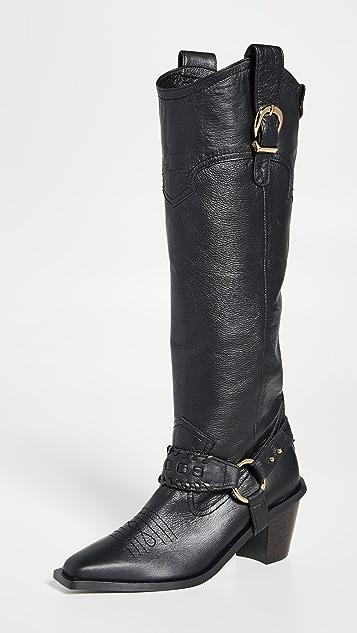 Reike Nen 西部风格及膝靴子