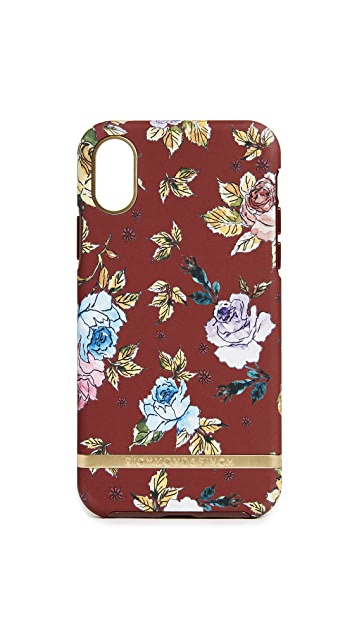 Richmond & Finch 红色花卉印花 iPhone X 手机壳