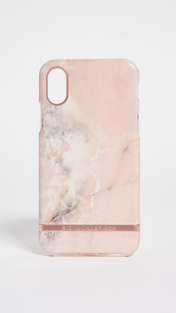 Richmond & Finch 粉色大理石纹 IPhone X 手机壳